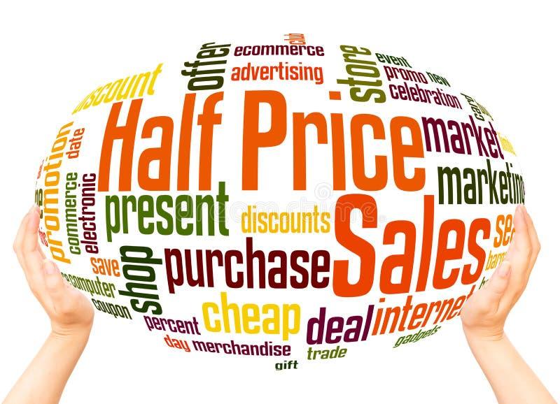Przyrodniej ceny sprzedaży słowa chmury sfery pojęcie ilustracji