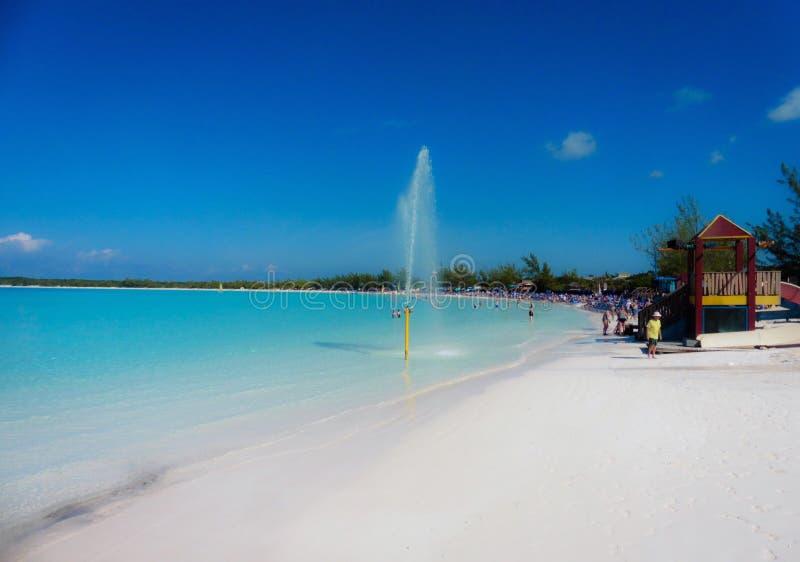 Przyrodniej księżyc Cay Bahamas zdjęcie stock