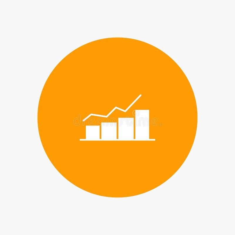 Przyrost, mapa, Flowchart, wykres, wzrost, postęp ilustracja wektor