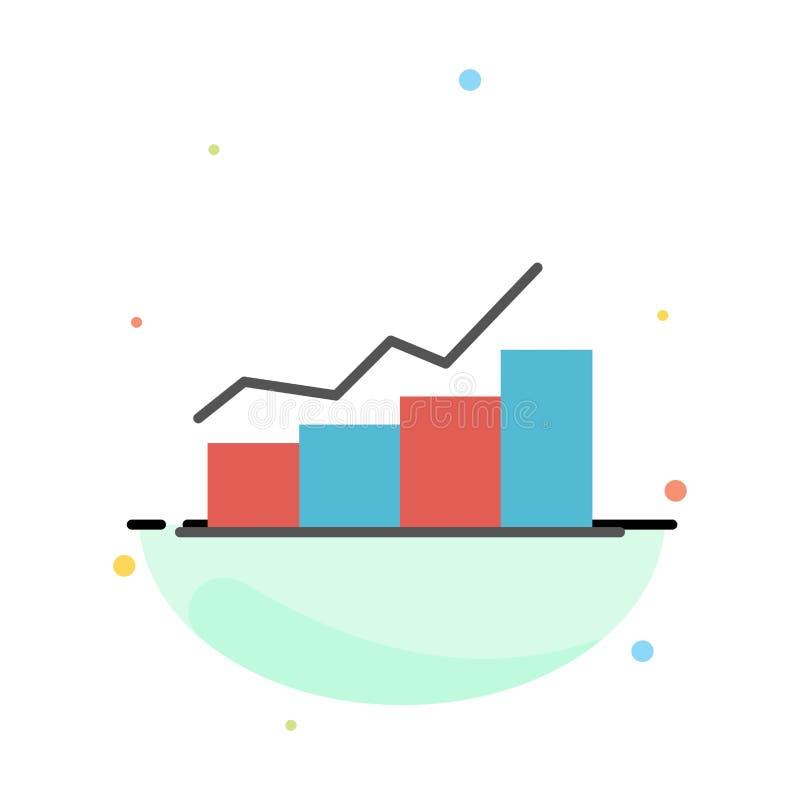 Przyrost, mapa, Flowchart, wykres, wzrost, postępu koloru ikony Abstrakcjonistyczny Płaski szablon royalty ilustracja