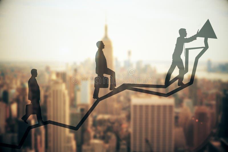 Przyrosta i pracy zespołowej pojęcie ilustracji