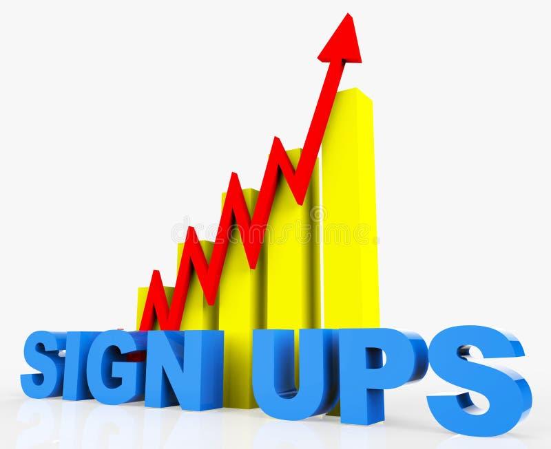 Przyrostowy Podpisuje Podnosi Reprezentuje ulepszenie postęp I plan royalty ilustracja