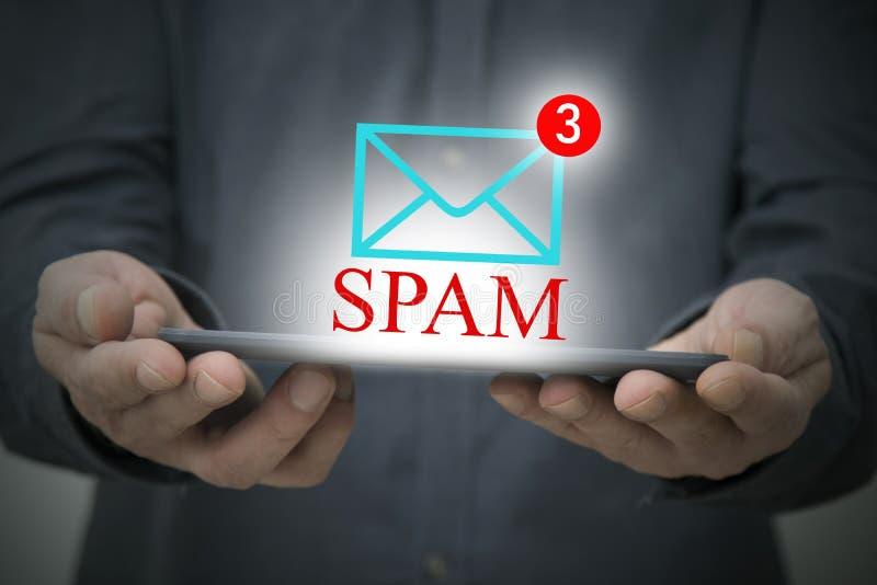 Przyrząd i pojęcie spam ilustracji