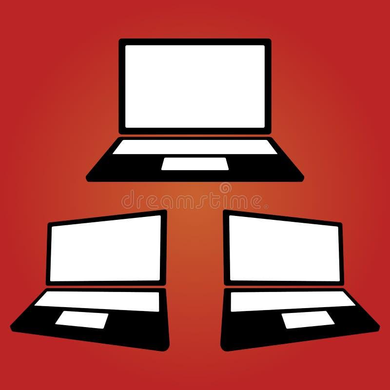 Przyrząd ikon laptop ilustracja wektor