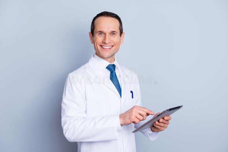 Przyrząd nauki wellness laptopu badania osoby pojęcia ludzie P fotografia stock