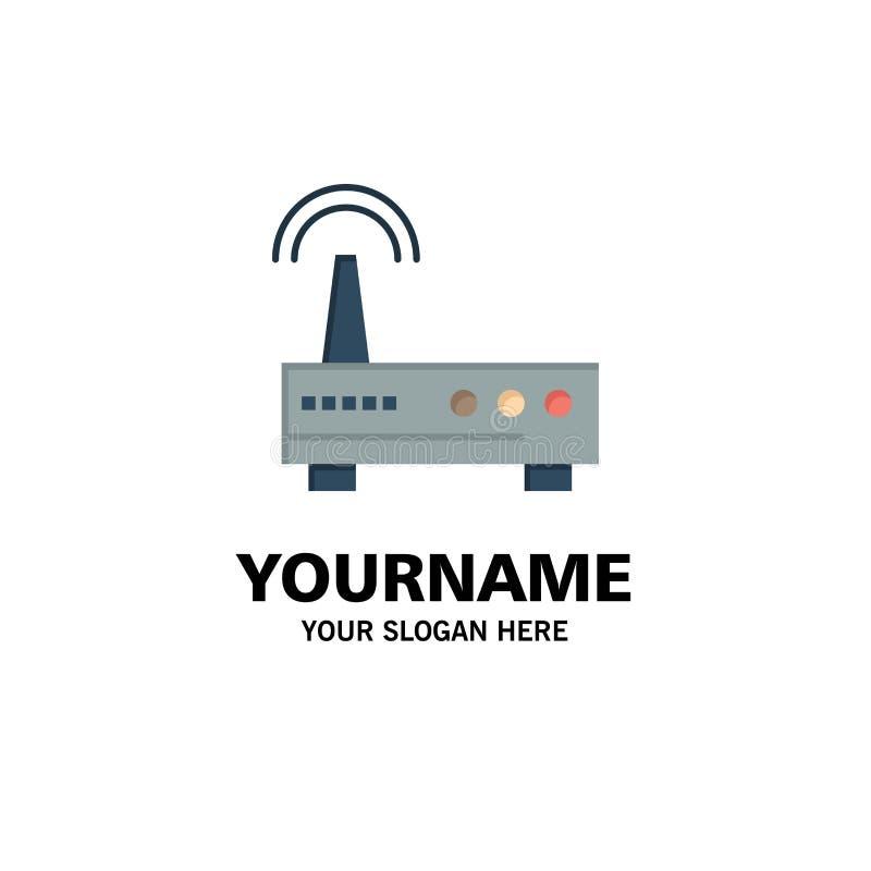 Przyrząd, Wifi, sygnał, edukacja biznesu logo szablon p?aski kolor ilustracja wektor