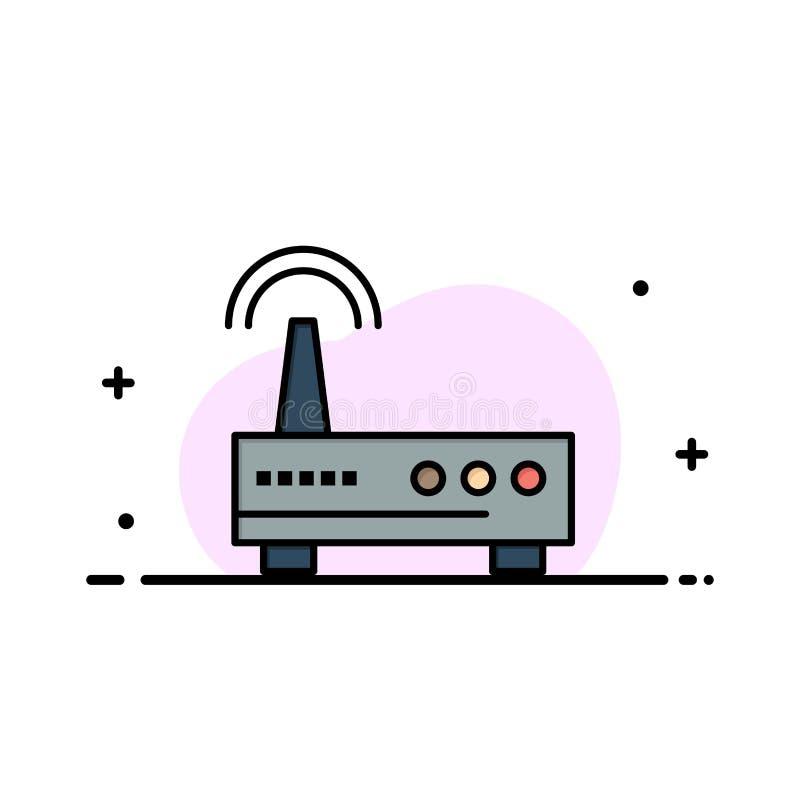 Przyrząd, Wifi, sygnał, edukacja biznesu mieszkania ikony sztandaru linia Wypełniający Wektorowy szablon ilustracji