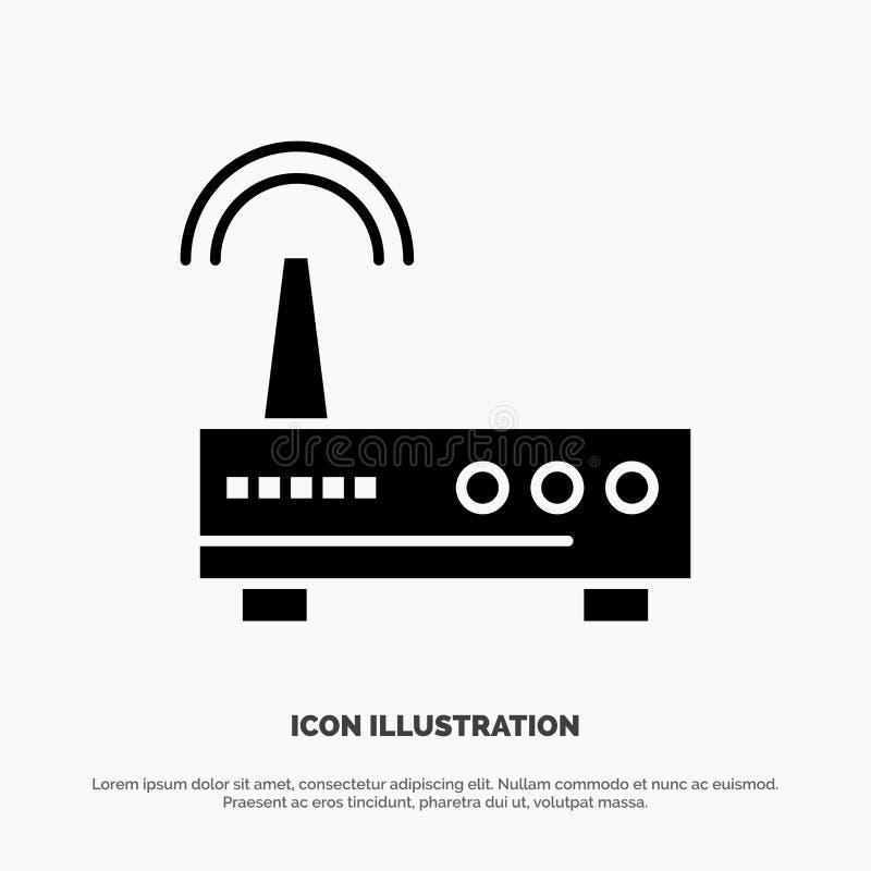 Przyrząd, Wifi, sygnał, edukacja glifu Stała Czarna ikona ilustracji