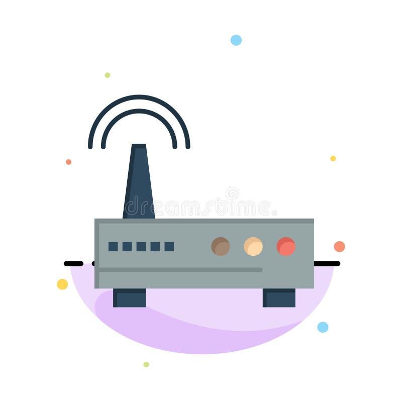 Przyrząd, Wifi, sygnał, edukacja koloru ikony Abstrakcjonistyczny Płaski szablon ilustracji