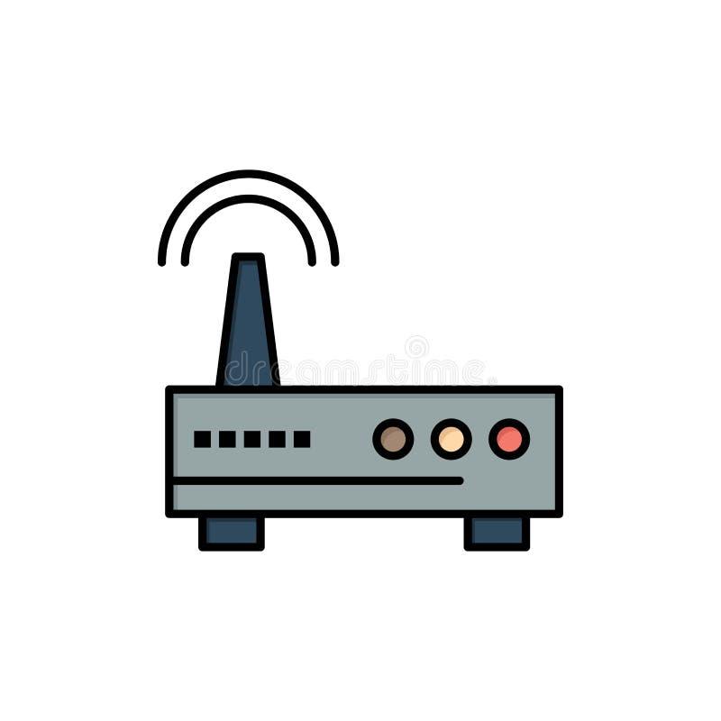 Przyrząd, Wifi, sygnał, edukacja koloru Płaska ikona Wektorowy ikona sztandaru szablon ilustracji