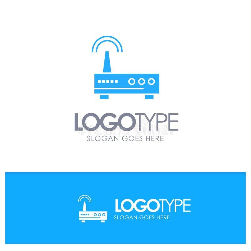 Przyrząd, Wifi, sygnał, edukacja logo Błękitny wektor royalty ilustracja