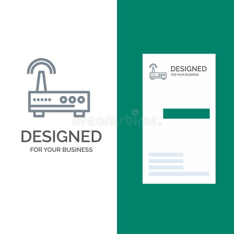 Przyrząd, Wifi, sygnał, edukacja logo Popielaty projekt i wizytówka szablon, ilustracji