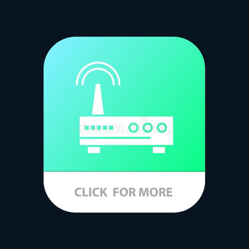 Przyrząd, Wifi, sygnał, edukacji App ikony Mobilny projekt ilustracja wektor
