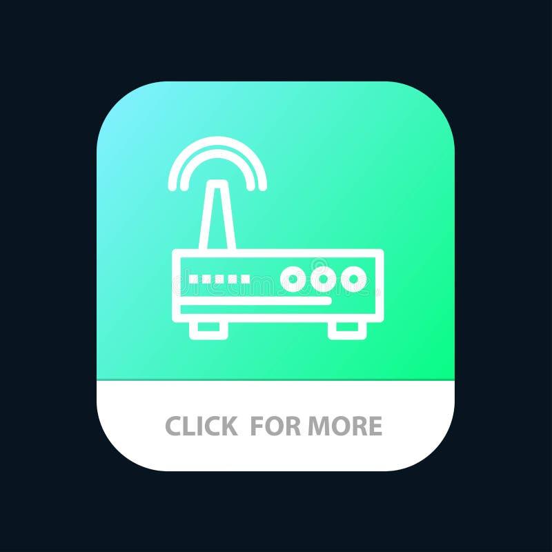 Przyrząd, Wifi, sygnał, edukacji App Mobilny guzik Android i IOS linii wersja ilustracji