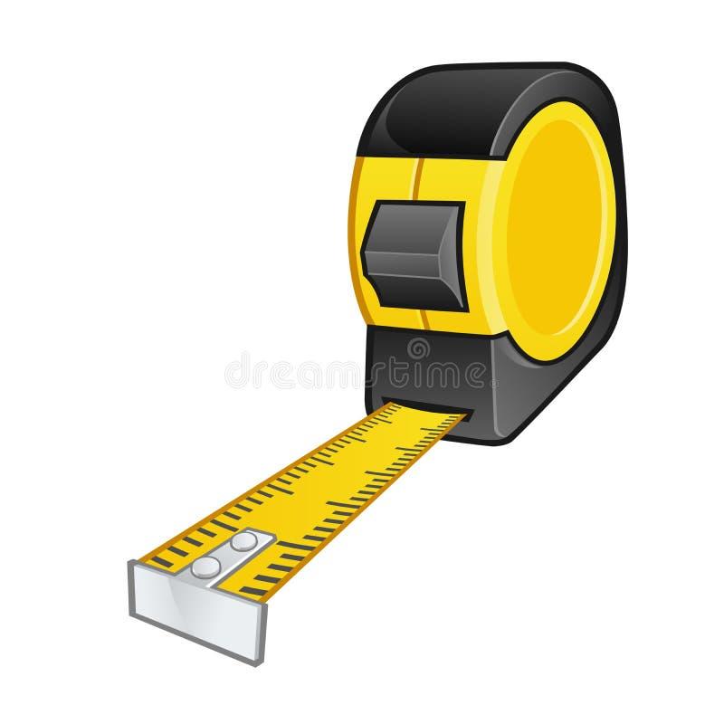przyrząd zamierzająca długości miara pomiaru taśmy ilustracja wektor