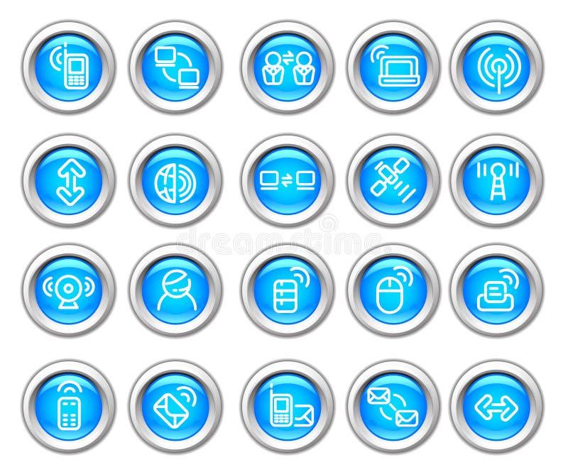 przyrządu glansowanej ikony ustalony silvero radio