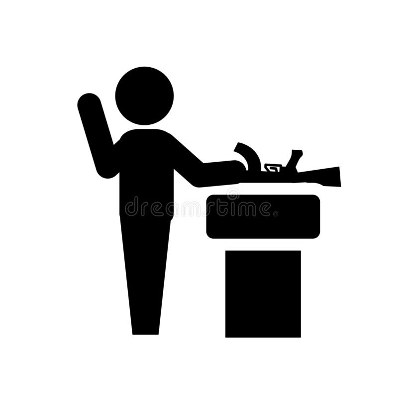 Przyrzeczenie ikona  ilustracji