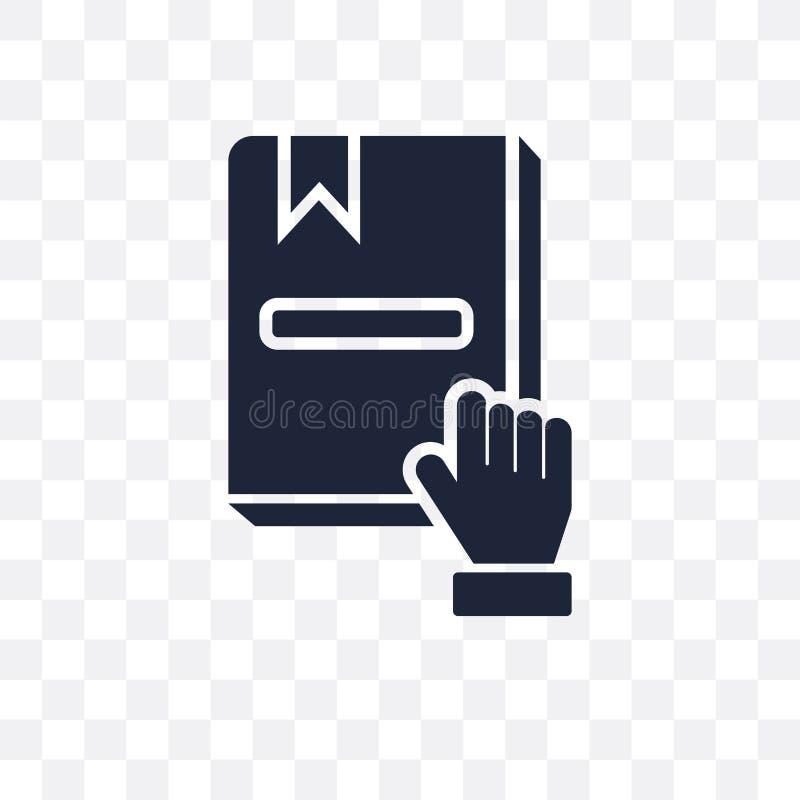 Przyrzeczenie przejrzysta ikona Przyrzeczenie symbolu projekt od wojska collecti royalty ilustracja