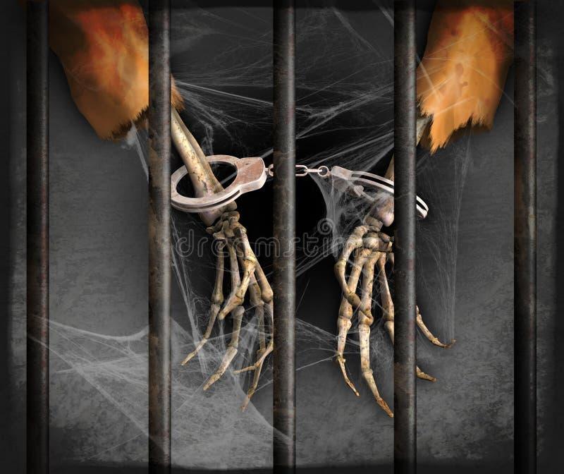 Przyschnięty więzień ilustracja wektor