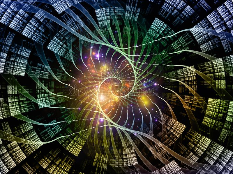 Przyspieszenie geometrii przestrzeni ilustracja wektor
