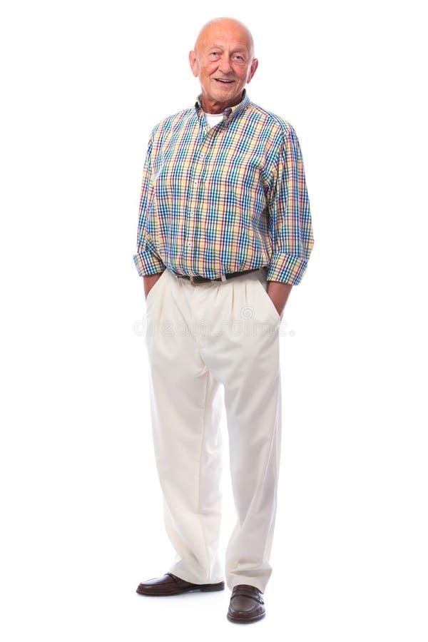 Przystojna starszego mężczyzna pozycja fotografia royalty free