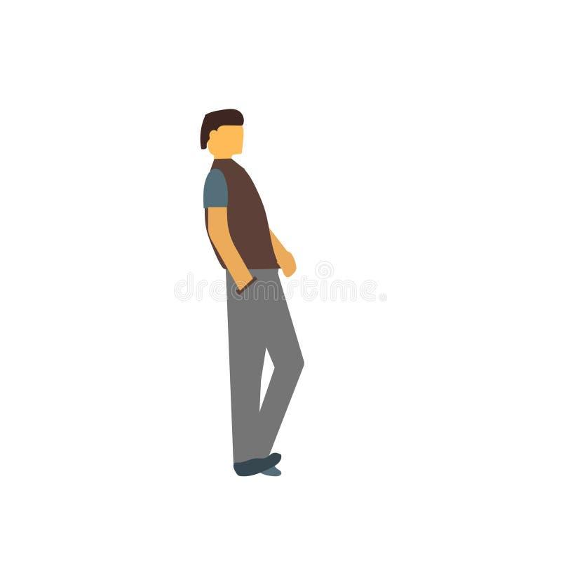 Przystojnego mężczyzny wektoru wektorowy znak i symbol odizolowywający na białym tle, Przystojnego mężczyzny logo wektorowy pojęc ilustracji
