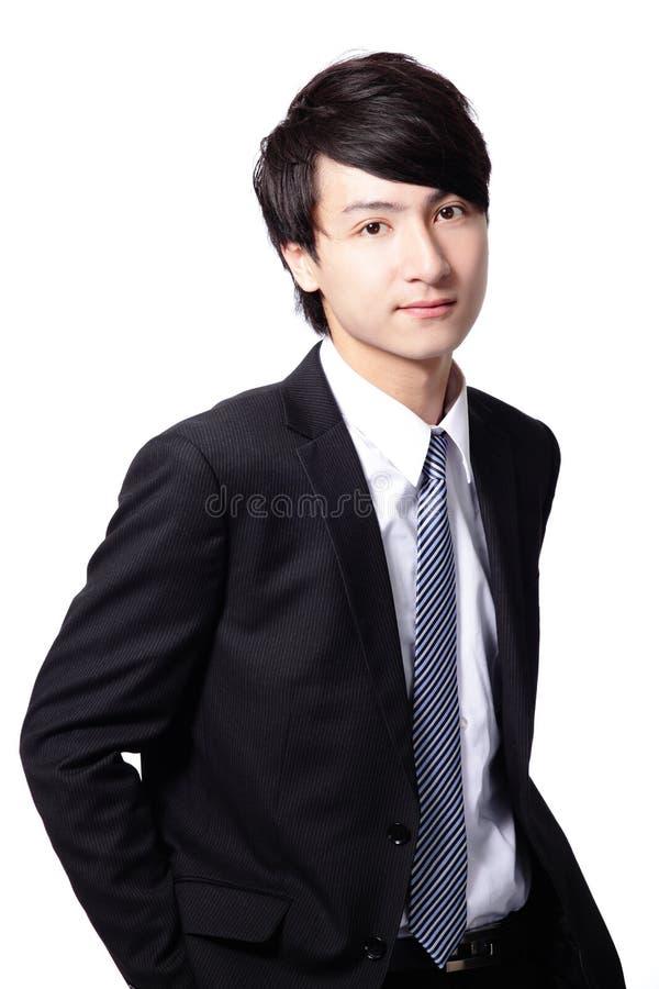 Przystojnego uśmiechu wykonawczy biznesowy mężczyzna obraz royalty free