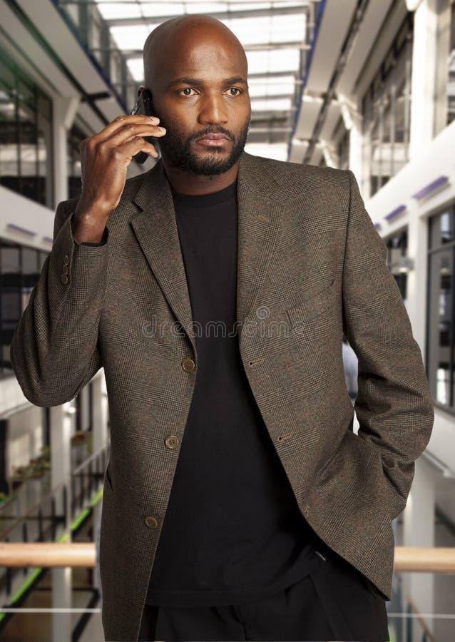 przystojny afrykański biznesmen fotografia stock
