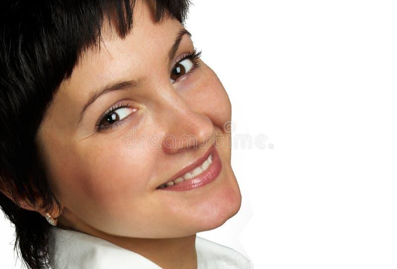 przystojny blisko portret kobiety w górę fotografia royalty free