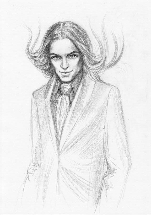 przystojny mężczyzna ilustracji