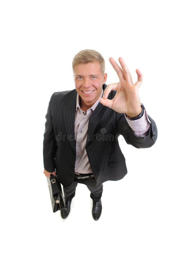 Przystojny młody biznesmen fotografia royalty free