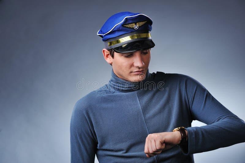 Przystojny Pilot Fotografia Stock