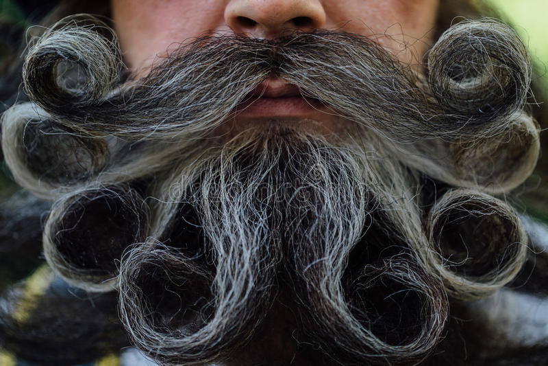 Przystojny portret odważny Scot z zadziwiającym wąsy i brodą fryzuje w Węgierskim stylu obrazy stock