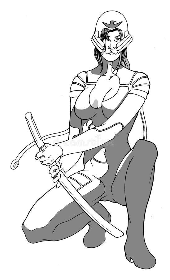 przyszłe samuraja. royalty ilustracja