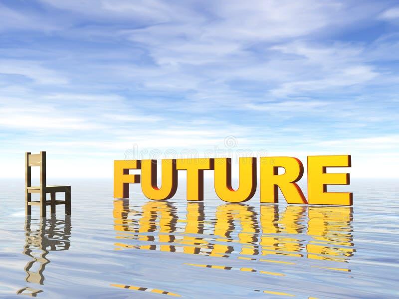 przyszłość. ilustracja wektor