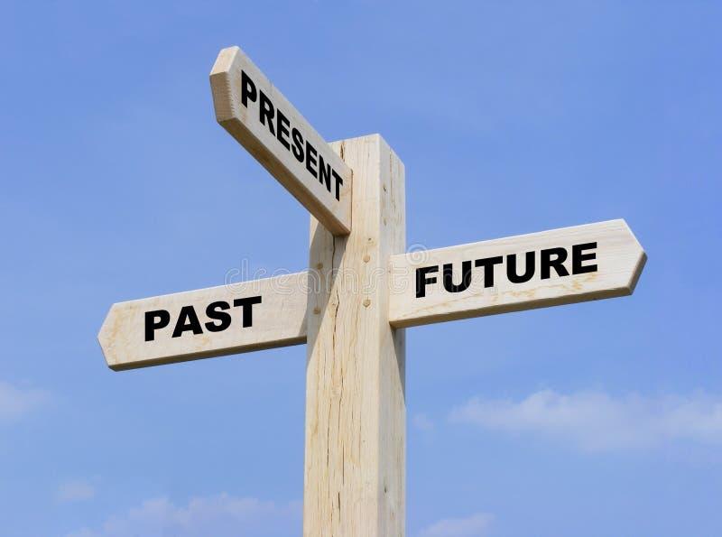 przyszłości past teraźniejszość obraz royalty free