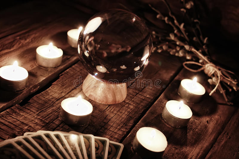 Przyszłościowa narrator świeczki wróżba zdjęcie stock
