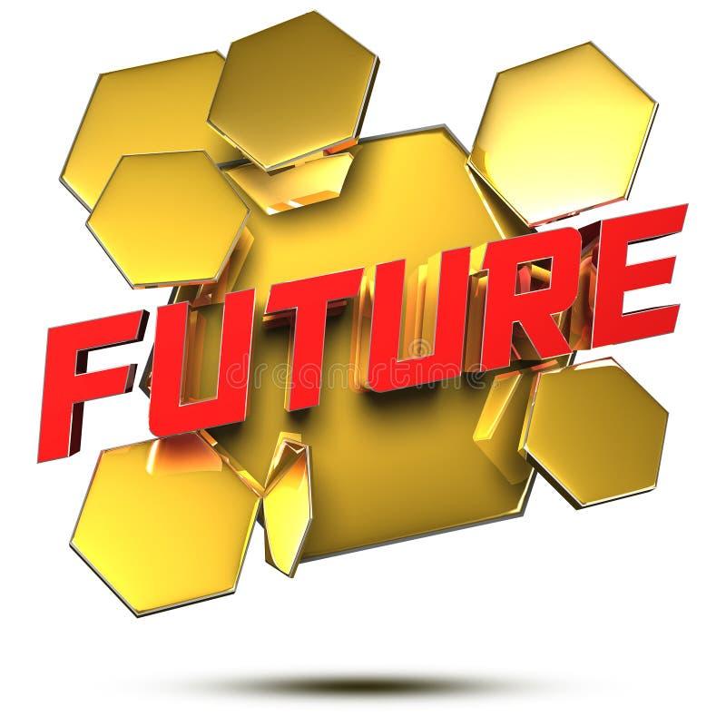 Przyszłościowa wiadomość 3D Z ?cinek ?cie?k? ilustracja wektor