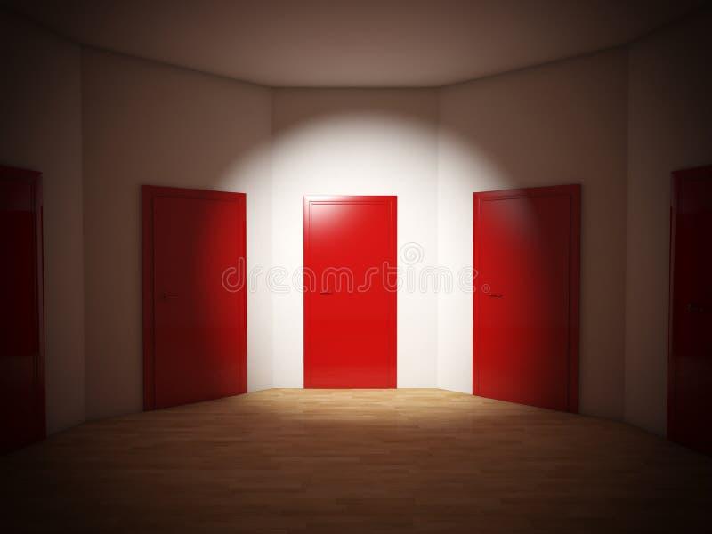 Przyszłościowi drzwi ilustracji
