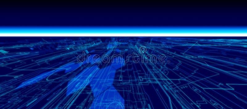 przyszłościowy horyzont ilustracji