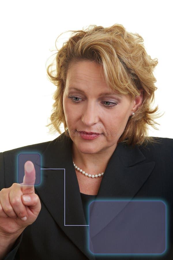 przyszłościowy system informacyjny zdjęcie stock