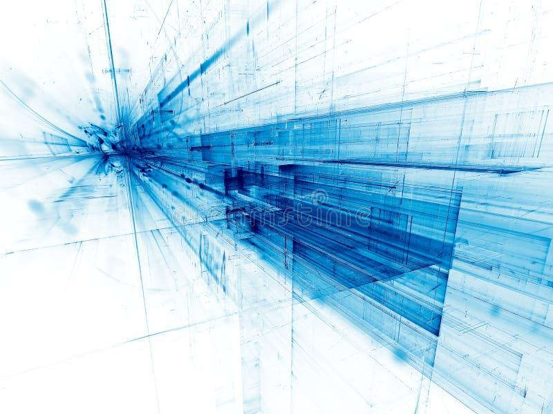 Przyszłościowy technologii tło - abstrakt cyfrowo wytwarzał imago fotografia royalty free