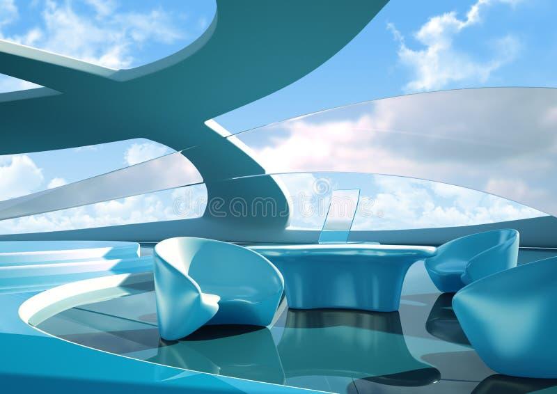przyszłościowy wnętrze royalty ilustracja