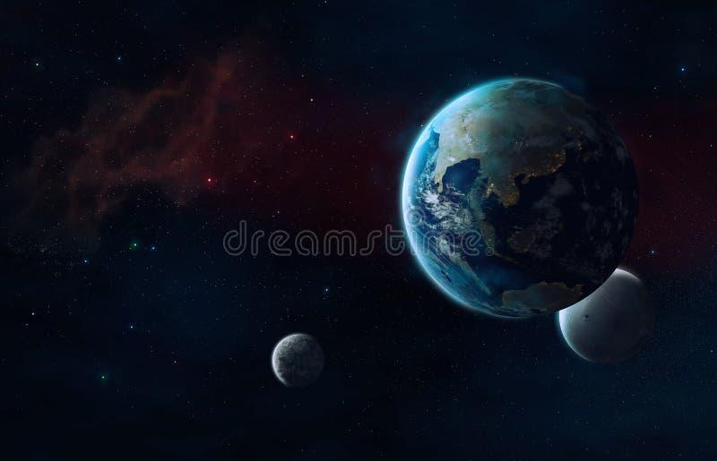 Przyszłościowy wszechświat ilustracja wektor