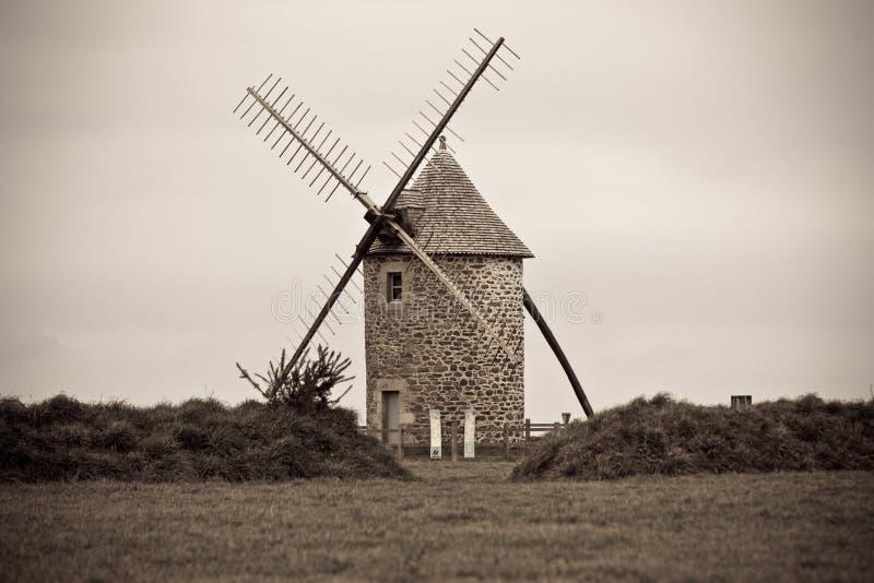 Przytępia Krajobraz z Starym wiatraczkiem obraz royalty free
