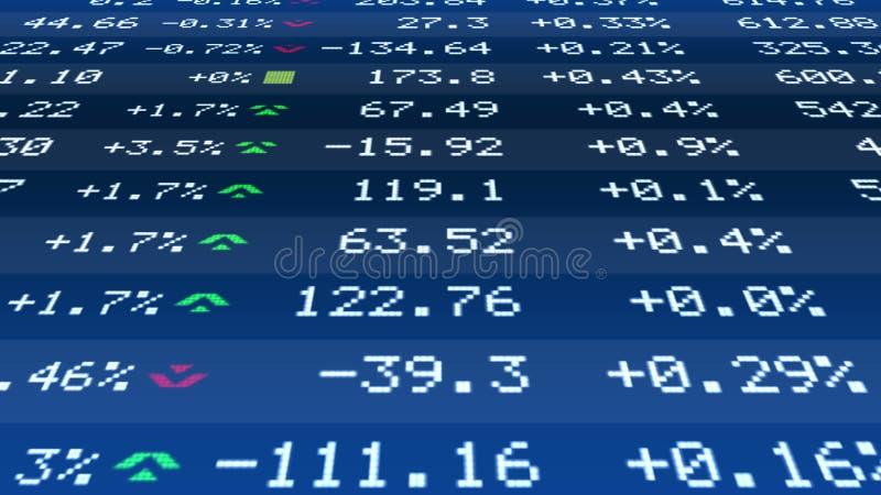 Przytacza zmiana dane na realtime rynek papierów wartościowych serpentynie, pieniężna stabilność, biznes royalty ilustracja