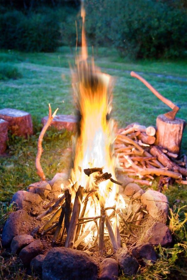 przytulna ogień obraz royalty free