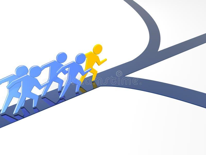 przywódctwo biznesowy sposób ilustracji