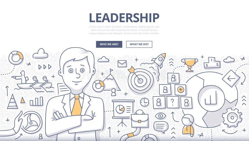 Przywódctwo Doodle pojęcie ilustracja wektor