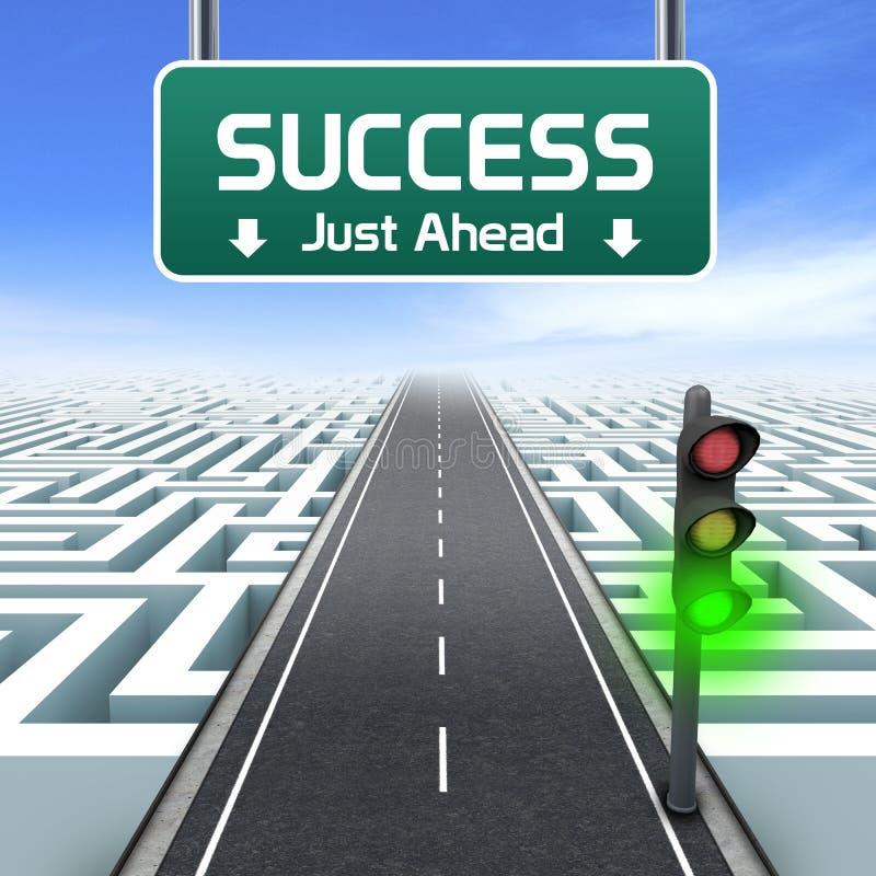 Przywódctwo i biznes. Sukces właśnie naprzód ilustracja wektor